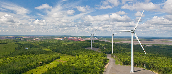 The Taconite Ridge Wind Energy Center, built in 2007, was the first commercial wind energy center in northeastern Minnesota.