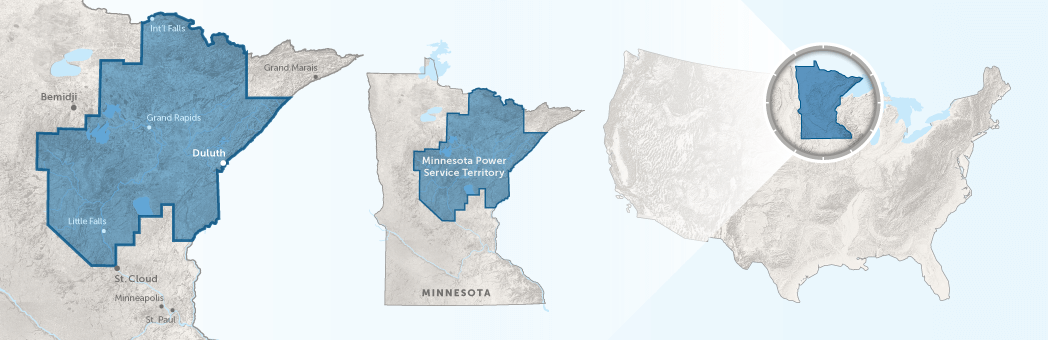 Minnesota Power Coverage Map